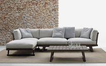 Modulierbares Sofa / modern / für den Garten / aus Teakholz