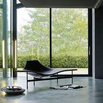 Moderne Liege / Leder / Stahl / von Jean-Marie Massaud
