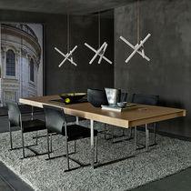 Moderner Tisch / Stahl / aus MDF / rechteckig