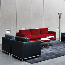 Modernes Sofa / Leder / Stoff / für öffentliche Einrichtungen