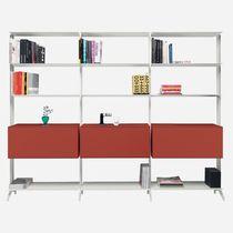 Modul-Bibliothek / Eck / modern / lackiertes MDF