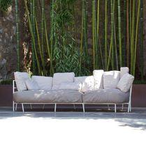 Modernes Sofa / für den Garten / Acrylgewebe / Stahl