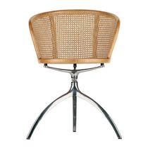 Moderner Stuhl / mit Armlehnen / drehbar / aus Aluminiumguss