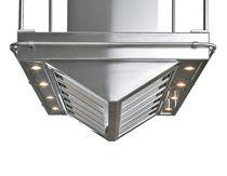 Inseldunstabzug / originelles Design / mit integrierter Beleuchtung