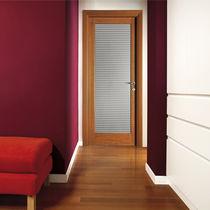 Einflügelige Tür / Schiebe / faltbar / Holz
