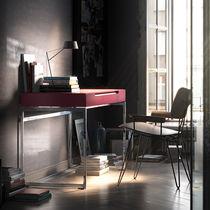 Schreibtisch aus Eiche / Stahl / modern