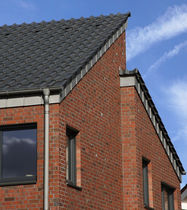 Massivziegel / für Fassaden / rot / Klinker