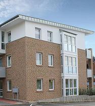 Massivziegel / für Fassaden / sandfarben / Klinker