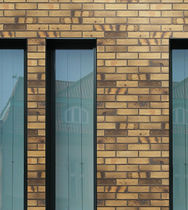 Massivziegel / für Fassaden / gelb / Klinker