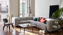 Modulierbares Sofa / modern / Leder / Gewebe