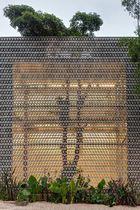 Platten-Vorhangfassade / Metall / Dekor / perforiert