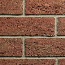 Riemchen für Fassaden / Struktur / rot / Dekor