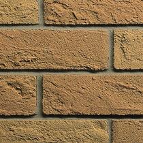 Riemchen für Fassaden / Struktur / gelb / Dekor