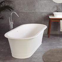 Freistehende Badewanne / oval / Mineralwerkstoff