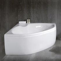 Freistehende Badewanne / für Eckeinbau / aus Acryl