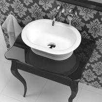 Aufsatzwaschbecken / oval / Mineralwerkstoff / klassisch