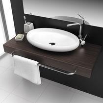 Aufsatzwaschbecken / oval / Mineralwerkstoff / modern