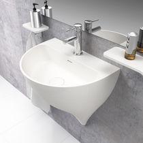 Wand-Waschbecken / Mineralwerkstoff / modern