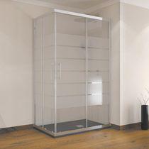 Multifunktions-Duschkabine / Glas / aus Aluminium / für Eckeinbau