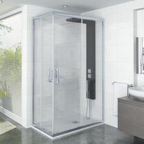 Multifunktions-Duschkabine / aus Aluminium / Glas / für Eckeinbau