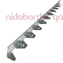 Randstein für Landschaftsgestaltung / verzinkter Stahl / linear