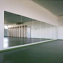 Wandmontierter Spiegel / modern / rechteckig / für Tanzsäle
