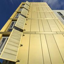 Zink-Fassadenverkleidung / geriffelt / Platten
