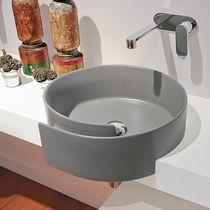 Einbauwaschbecken / rund / Keramik / modern
