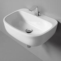Wand-Waschbecken / Keramik / modern
