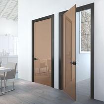Innenbereich-Tür / einflügelig / Holz / Glas