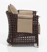 Moderner Sessel / aus Rattan / Garten