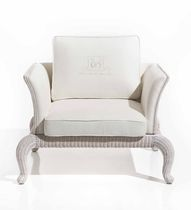 Klassischer Sessel / aus Rattan / Garten