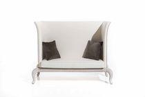 Klassisches Sofa / aus Rattan / 2 Plätze / mit hoher Rückenlehne
