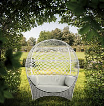 Sofa / originelles Design / Garten / aus Rattan / 2 Plätze