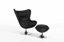 Moderner Sessel / Dreh / aus Rattan / Garten