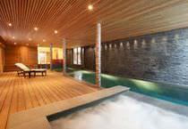 Erdverlegtes Schwimmbecken / Beton / für Hotels / Innenraum