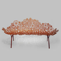 Sofa / organisches Design / Garten / Stahl / 2 Plätze