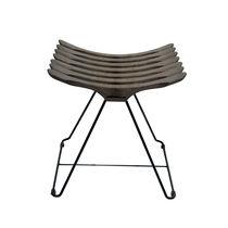 Moderner Hocker / Holz / Stahl / Kufen