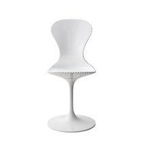Moderner Stuhl / zentrales Fußgestell / Stahl