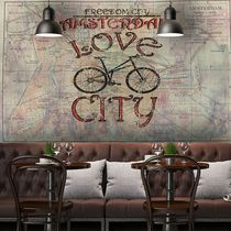 Moderne Tapeten / Vinyl / mit städtischen Motiven / Karten