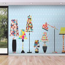 Moderne Tapeten / Vinyl / mit geometrischem Muster / mit Panorama