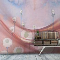 Moderne Tapeten / Vinyl / Blumenmotive / mit Naturmotiv