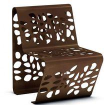 Moderner Stuhl / aus Stahlblech / für öffentliche Bereiche / Außen