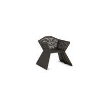 Moderner Stuhl / mit Armlehnen / verzinkter Stahl / für öffentliche Bereiche
