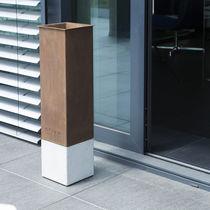 Sockel-Ascher / Cortenstahl / Beton / für Außenbereich