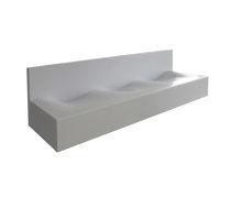 Multifunktionales Waschbecken / Aufsatz / rechteckig / aus Corian®