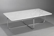 Couchtisch / Bauhaus Design / aus Marmor / aus Stahl