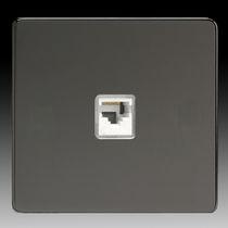 Multimediasteckdose / doppelt / wandmontiert / modern