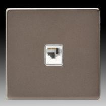 Multimediasteckdose / doppelt / wandmontiert / Metall