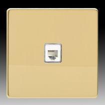 Telefonsteckdose / wandmontiert / Metall / modern